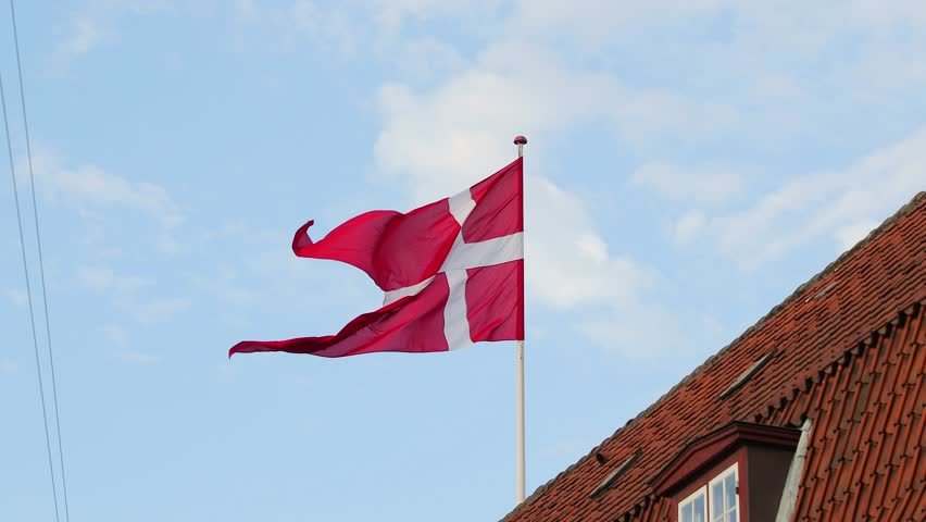 Flag of Denmark waving, slow motion from 60 FPS footage | Shutterstock HD Video #1011477143