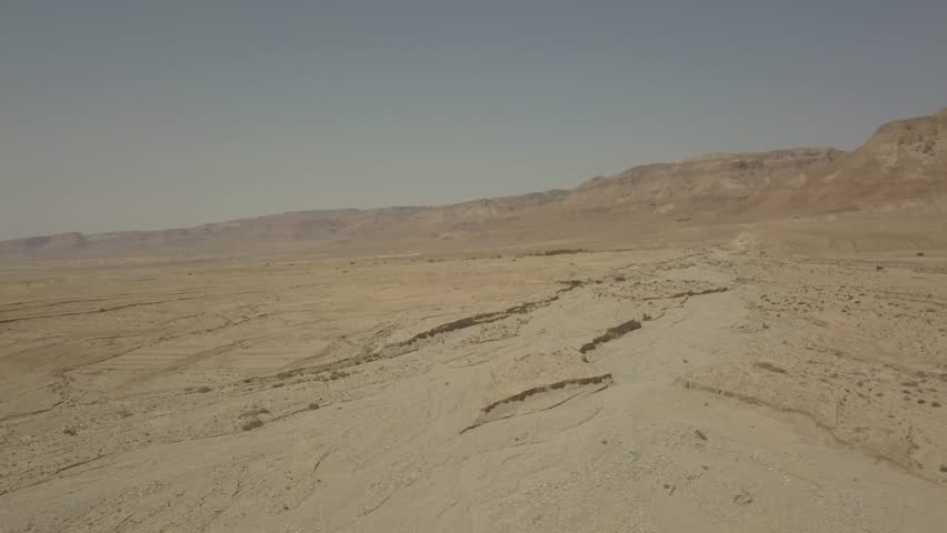 Dead sea desert 4k aerial view ungraded flat | Shutterstock HD Video #1011483143