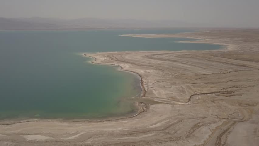 Dead sea desert 4k aerial view ungraded flat | Shutterstock HD Video #1011483173