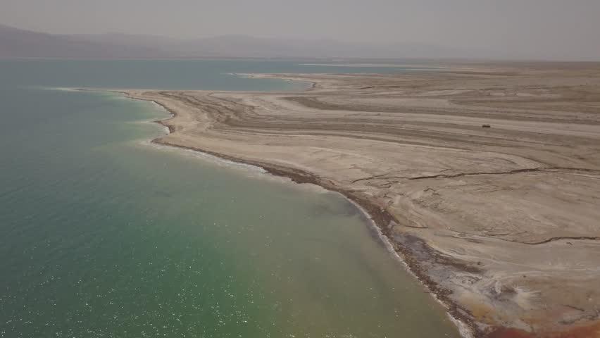 Dead sea desert 4k aerial view ungraded flat | Shutterstock HD Video #1011483203