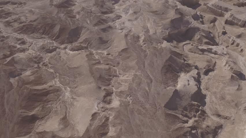 Dead sea desert 4k aerial view ungraded flat | Shutterstock HD Video #1011483233