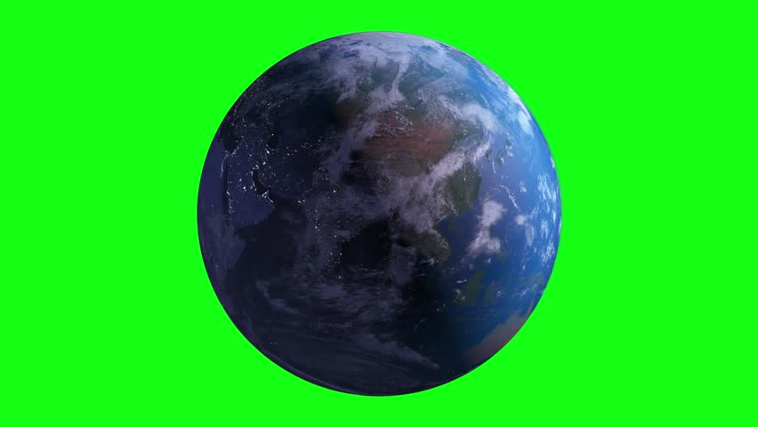 Green Screen 4K Earth Rotating, The World Spinning, Full Rotation, Seamless Loop - Realistic Earth Turning 360 Degrees   Shutterstock HD Video #1011484973