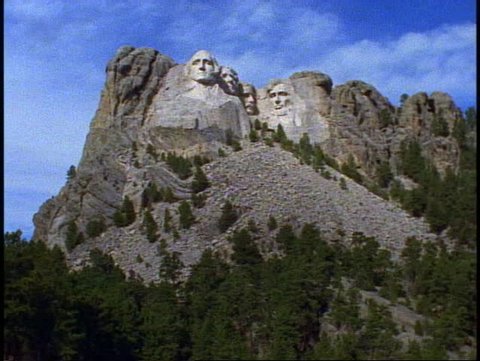MT. RUSHMORE, 1999, Mount Rushmore, front view, still, wide shot