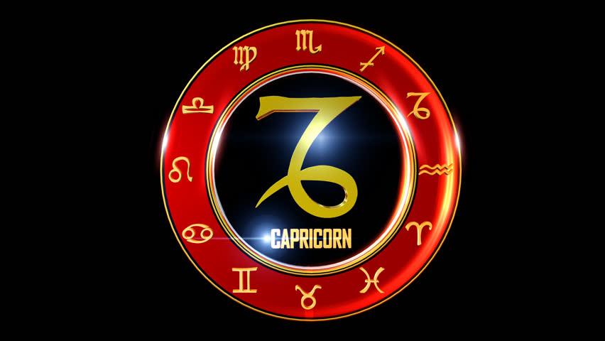 Nice rotating 3d golden Zodiac sign (Western astrology)