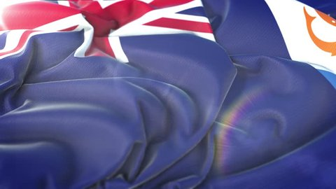 Anguilla flag.Flag of Anguilla Beautiful 3d animation of Anguilla flag in loop mode.