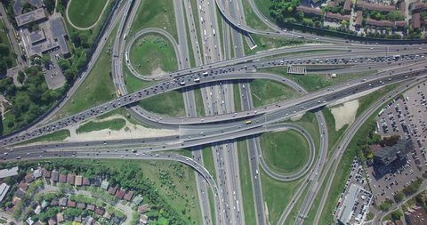 Aerial Highway of Toronto Don Valley Parkway