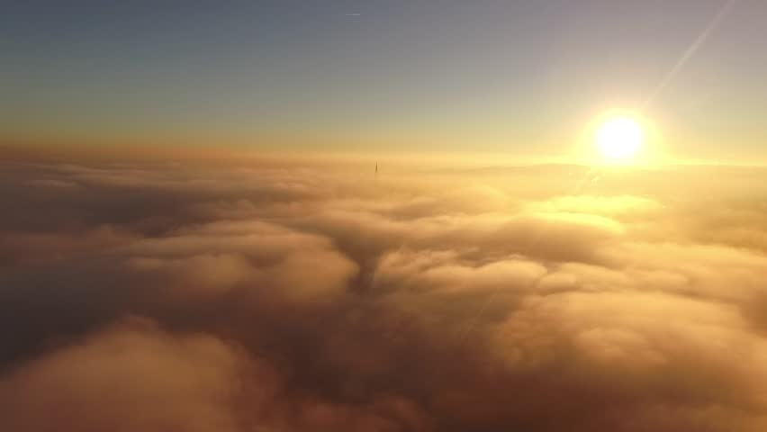 Sunset above the clouds | Shutterstock HD Video #1011663383