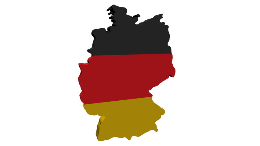 Germany Map Flag With Container Ships Departing Animation Stock - Germany map hd