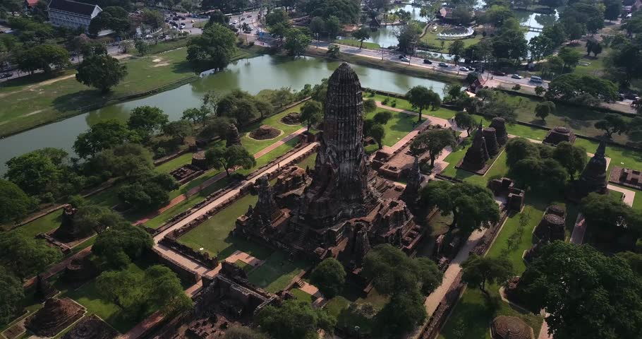 Ruins of the temple in Ayutthaya, Thailand