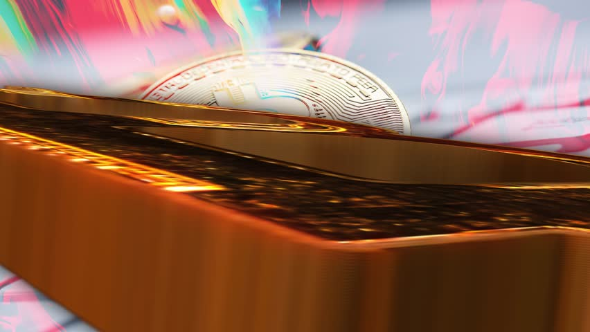 Geometrical background bitcoin. Abstract graphic design bitcoin. Background. Abstract computer background. The universe and space design c bitcoin. Futuristic form of bitcoin.