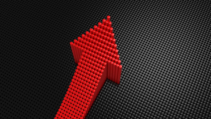 Cylinders Formed A Arrow. Black background, 3 in 1, created in 4K, 3d animation   Shutterstock HD Video #1011873683