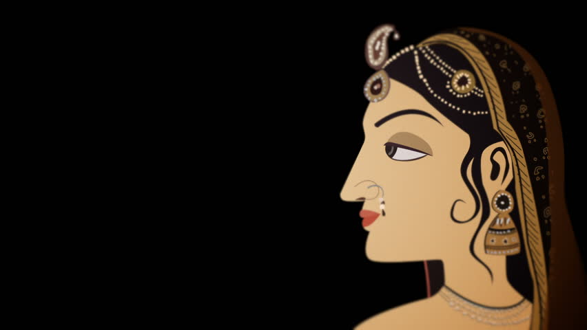 Indian Hindu Woman and the Seven Chakras