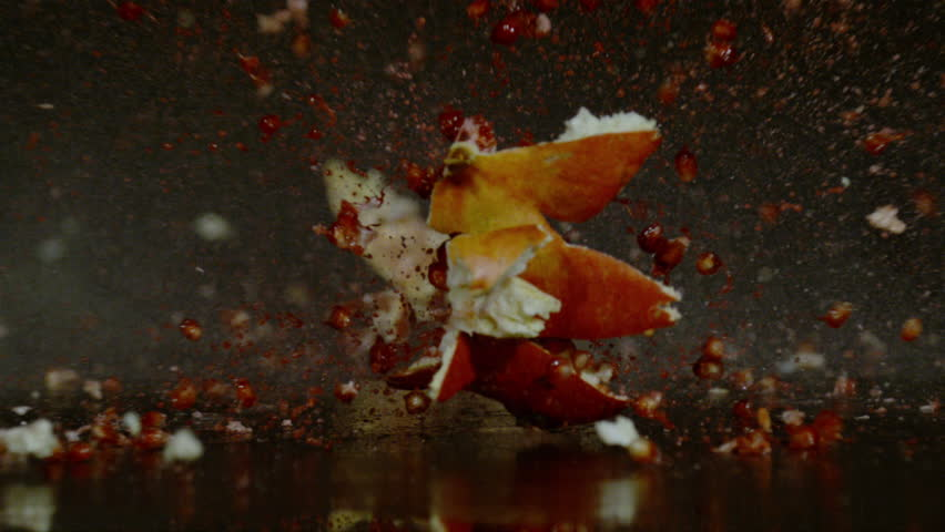 Pomegranate exploding, Ultra Slow Motion