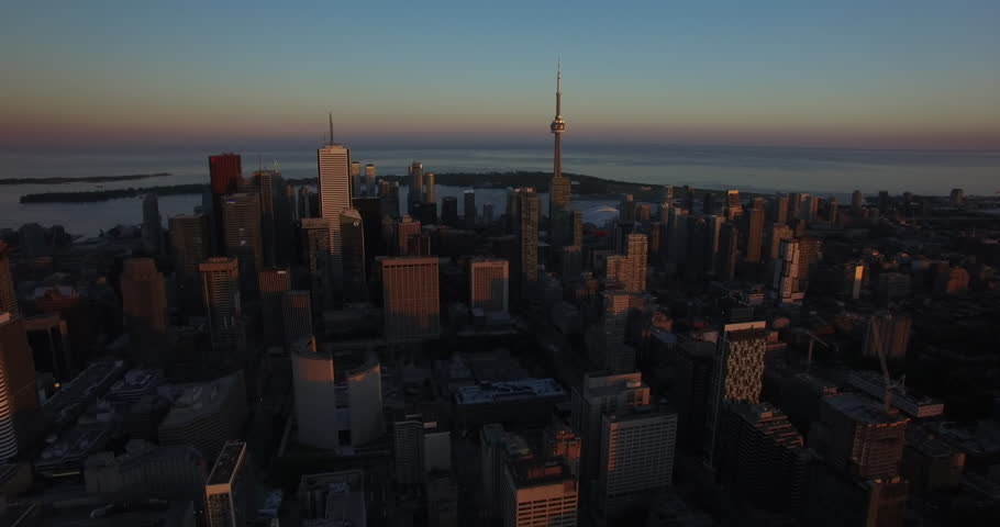 Aerial of Downtown Toronto Skyline 4K | Shutterstock HD Video #1011999653