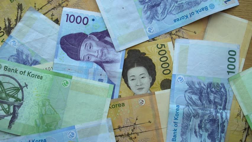 National Currency of South Korea - Korean Won Money (KRW) | Shutterstock HD Video #1012029053