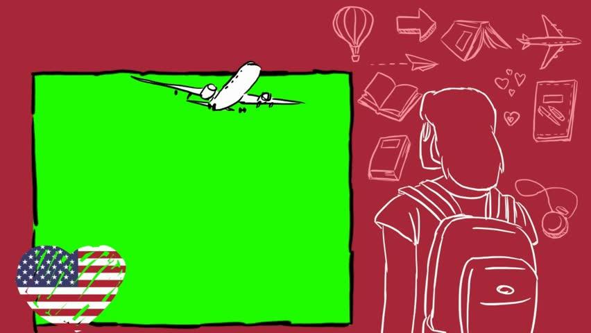 USA  hand drawn tourism | Shutterstock HD Video #1012042553