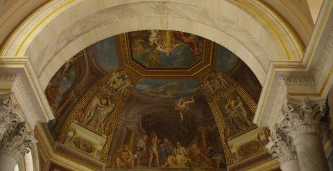 Michelangelo Sistine Chapel Ceiling Stock Video Footage 4k