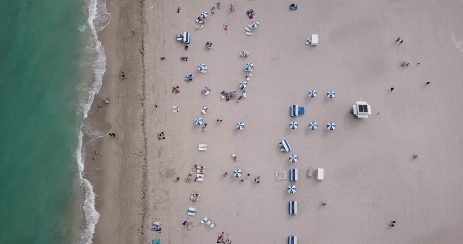 Aerial Footage of South Beach, Miami, Florida
