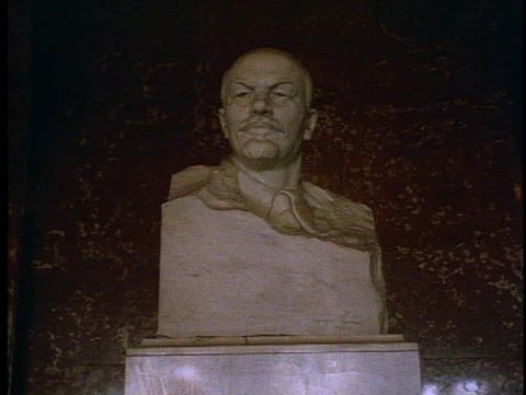 RUSSIA, 1999, Moscow, Russia, Lenin, marble bust