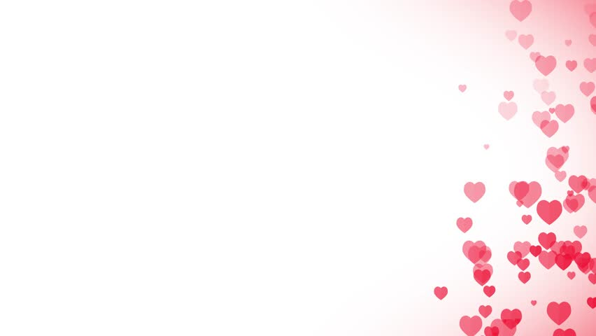 Heart Background For Valentine's day/ Animated background with heart rising for valentine's day holiday