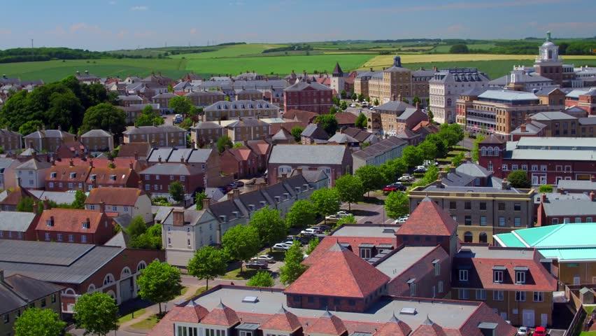 Poundbury, Dorset Aerial Footage