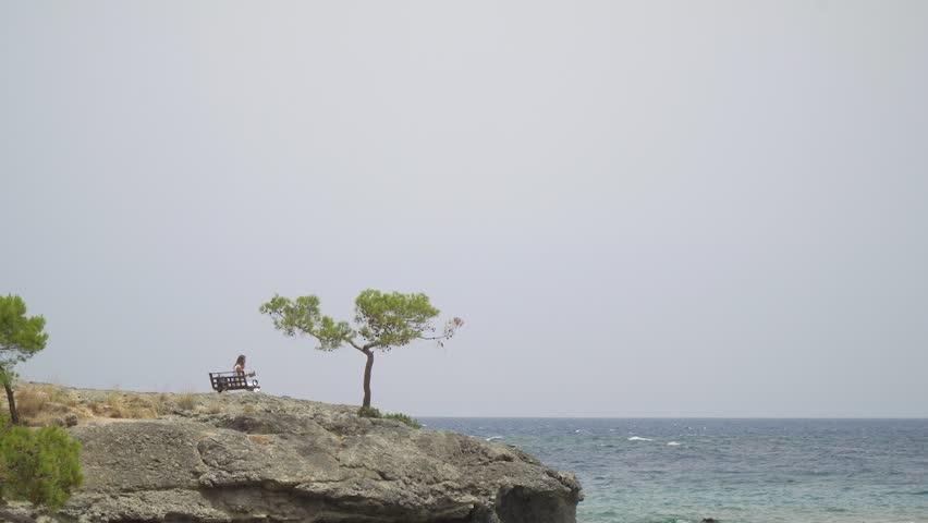 Beautiful sea view near Cleopatra beach in Alanya