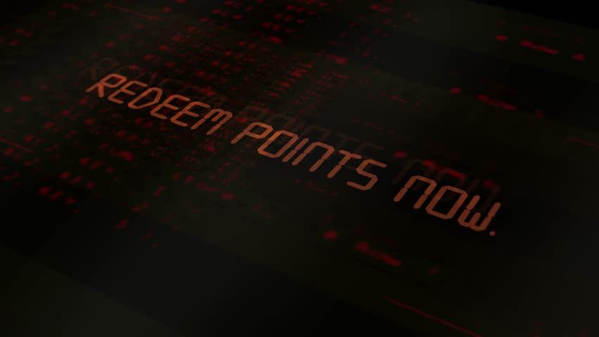 Digital technology text - Redeem points now   Shutterstock HD Video #1012328063