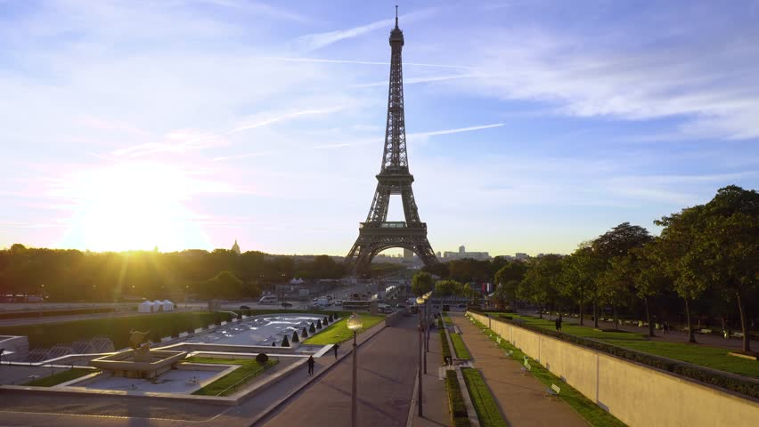 Eiffel tour and from Trocadero, Paris | Shutterstock HD Video #1012449143