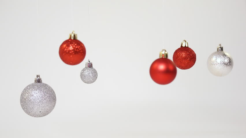 Silver and red Christmas balls | Shutterstock HD Video #1012461743