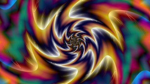 Abstract background with animation spinning helix. Seamless loop abstract motion background.