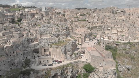 Aerial view of Matera, Italy