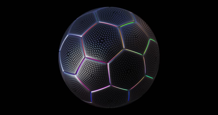 Modern techno soccer ball network looped animation | Shutterstock HD Video #1012637243