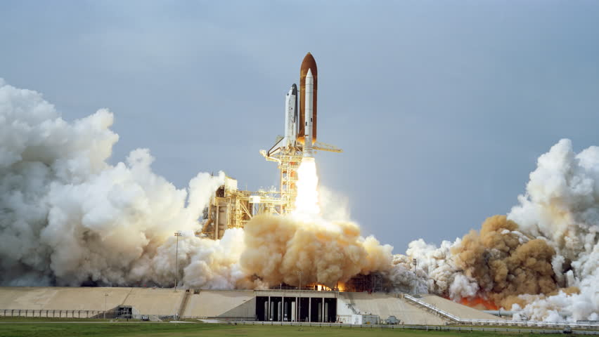 4K NASA Cinemagraph Collection - Shuttle Launch. Seamless loop. (Elements furnished by NASA)