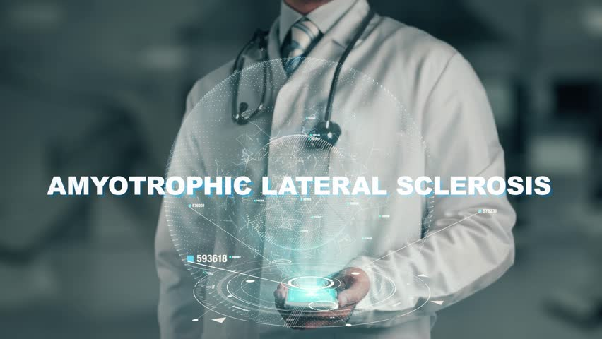 Doctor holding in hand Amyotrophic Lateral Sclerosis