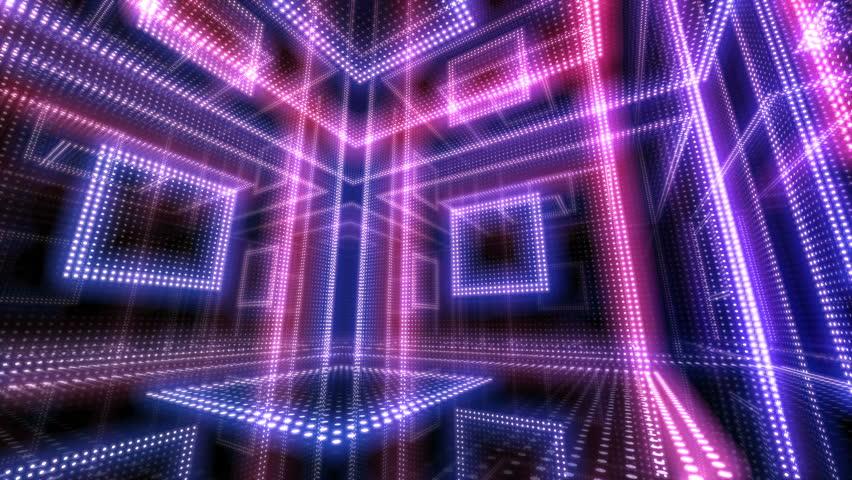 Disco club room space illumination neon light floor wall | Shutterstock HD Video #1012745573