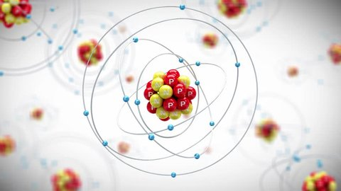 Animation of Phosphorus atom. Looping animation.(images are available!)