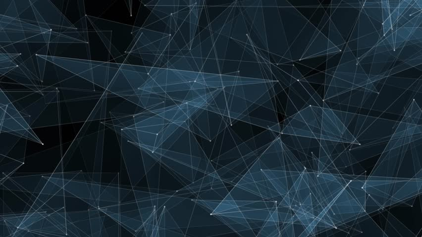 abstract BLUE polygon net connections cloud animation background new quality dynamic technology motion colorful video footage