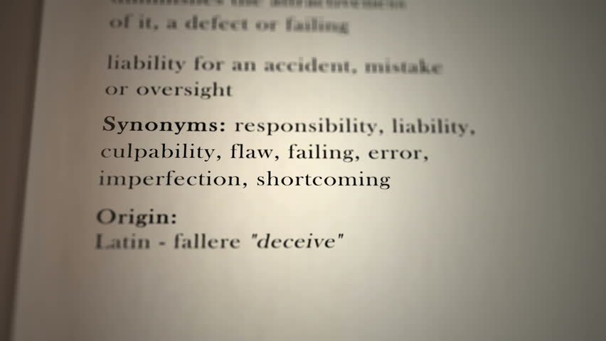 This animation includes a definition of the word fault.