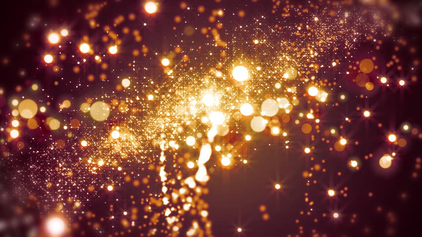 Red light shine particles bokeh, holiday concept. Christmas animated golden background with circles and stars. Space background. Seamless loop. | Shutterstock HD Video #1012841033