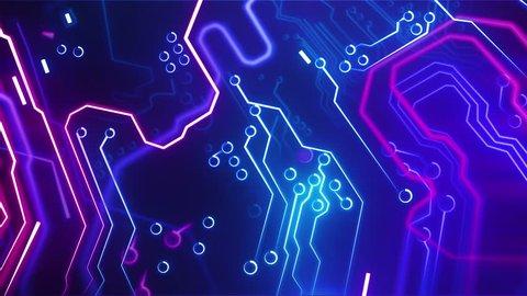 Digital motherboard. Digital grid. Energy waves. CPU Processing. Digital network. Computing. GPU gaming. Web, internet