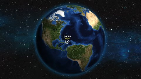 HAITI OKAP ZOOM IN FROM SPACE