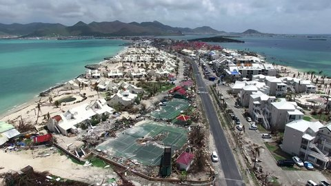 Hurricane Irma a category 5 storm destroyed homes, hotels and businesses on the french side of the island.