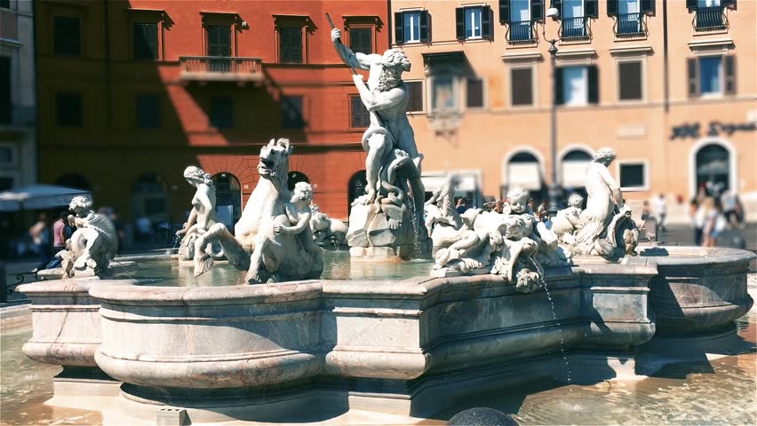 Piazza Navona in Rome (Italy).