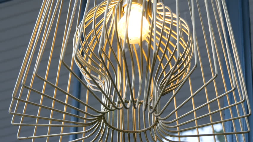 Model lamp in resturant.