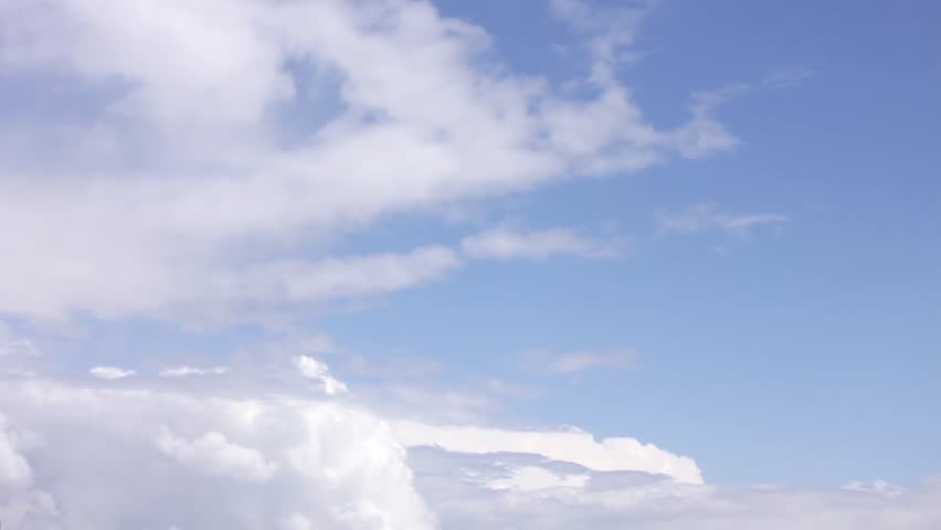 White Clouds & Blue Sky, Flight over clouds, loop-able, cloudscape, day, Time lapse clouds, rolling puffy cloud are moving, white lightnes clouds time lapse. UHD. | Shutterstock HD Video #1012997003