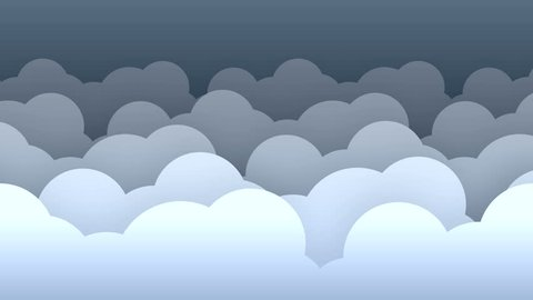 2d clouds flat style parallax background loop