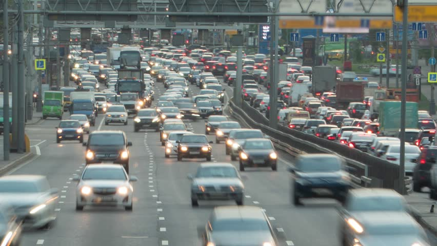 Huge Car Traffic on a City Highway Timelapse Motion | Shutterstock HD Video #1013063063