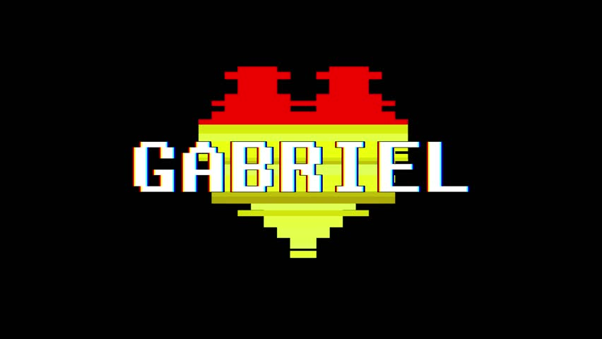 Pixel Heart Gabriel Word Text Vidéos De Stock 100 Libres De Droit 1013080523 Shutterstock