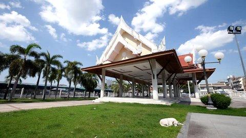 Chonburi Chaloem Phra Kiat Rama 9 park Time lapse