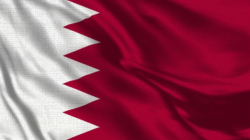 Bahrain Flag Loop - Realistic 4K - 60 fps flag of the Bahrain waving in the wind. Seamless loop with highly detailed fabric texture. Loop ready in 4k resolution